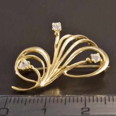 Zlatá elegantní brož 2614 č.3