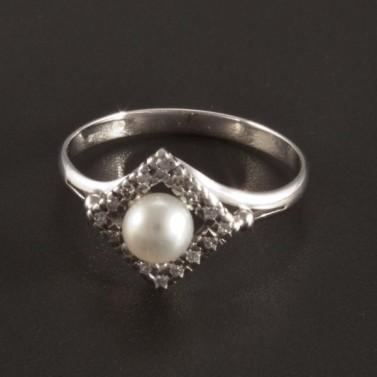 Prsten s perlou a briliantem 2724 č.1