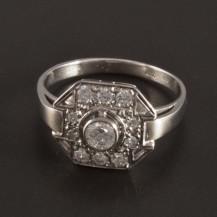 Prsten s brilianty z bílého zlata 2725