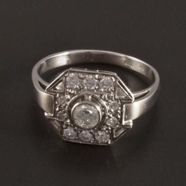 Prsten s brilianty z bílého zlata 2725 č.1