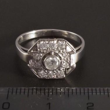 Prsten s brilianty z bílého zlata 2725 č.2