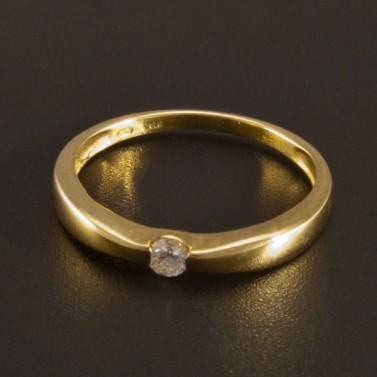 Zlatý prsten s briliantem 2726 č.1