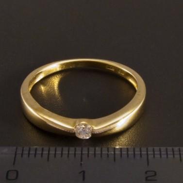 Zlatý prsten s briliantem 2726 č.2