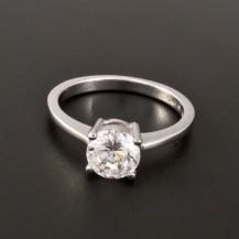 Stříbrný prsten zirkon briliantový brus 2886