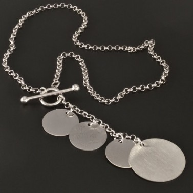 Stříbrný náhrdelník s provlékaným uzávěrem 2965 č.1