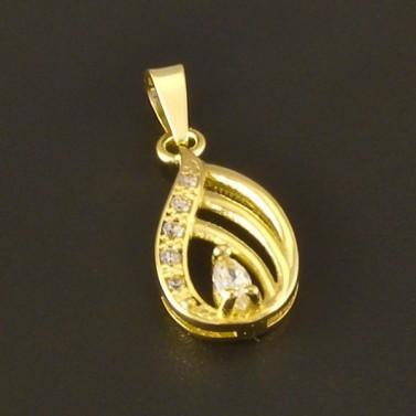 Zlatý žlutý přívěsek kapkový tvar 3063 č.1