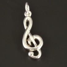 Přívěsek stříbrný houslový klíč 3081