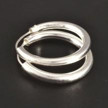 Stříbrné hladké lesklé kulaté kruhy 3152