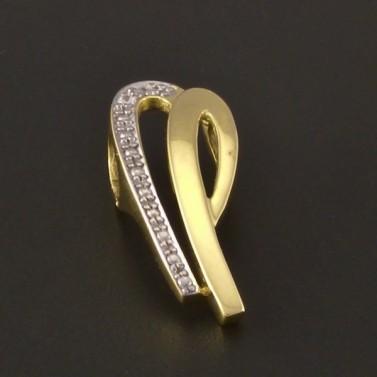 Elegantní zlatý přívěsek žlutobílý 3204 č.1