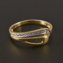 Zlatý prsten dvoubarevná kombinace 3205
