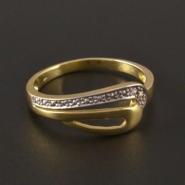 Zlatý prsten dvoubarevná kombinace 3205 č.1