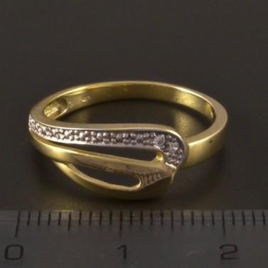 Zlatý prsten dvoubarevná kombinace 3205 č.2