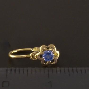 Květy modré zlaté dětské náušnice 3210 č.3
