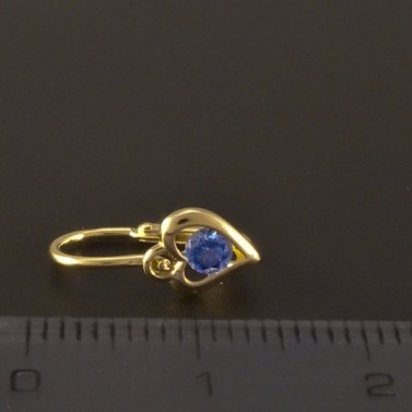 Dětské náušnice zlato modré srdce 3220 č.3