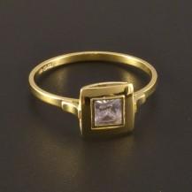 Jemný zlatý prsten se zirkonem 3232