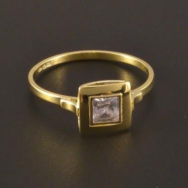 Jemný zlatý prsten se zirkonem 3232 č.1