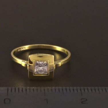 Jemný zlatý prsten se zirkonem 3232 č.2