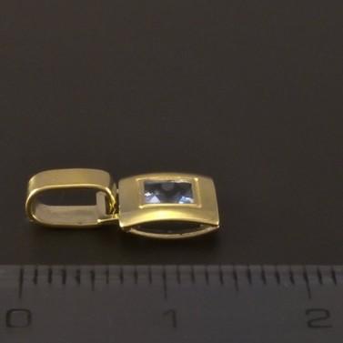 Zlatý jemný přívěsek s akvamarinem 3266 č.2