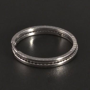 Broušené kruhy bílé zlato 3341 č.1