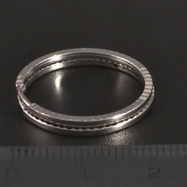 Broušené kruhy bílé zlato 3341 č.2