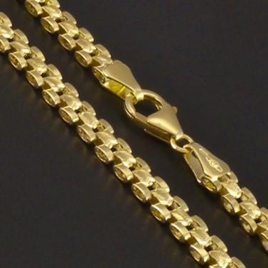 Zlatý článkový masivní náhrdelník 3359 č.2