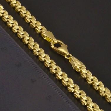 Zlatý článkový masivní náhrdelník 3359 č.3