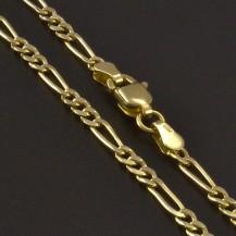 Jednoduchý dětský zlatý řetízek 3468