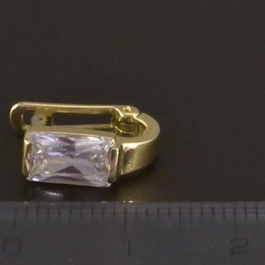 Náušnice zlato zirkon obdélník 3510 č.4