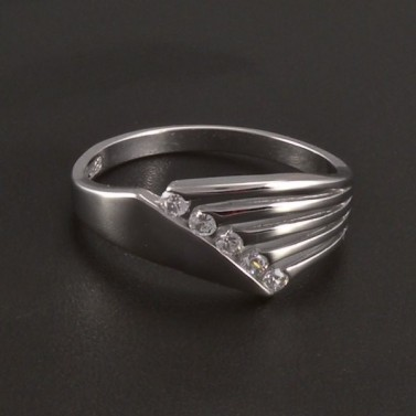 Prsten bílé zlato hladké lesklé 3514 č.1