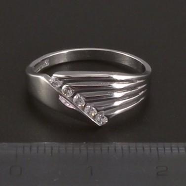Prsten bílé zlato hladké lesklé 3514 č.2