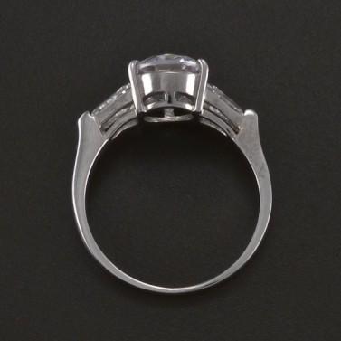 Prsten z bílého zlata s velkým zirkonem 3528 č.3