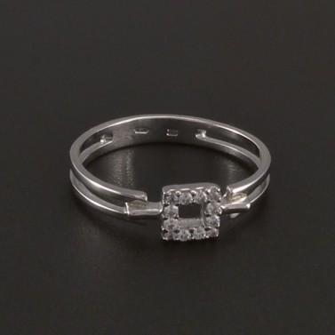 Prořezávaný prsten se zirkony bílé zlato 3529 č.1