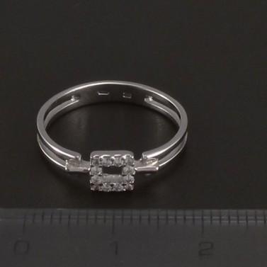 Prořezávaný prsten se zirkony bílé zlato 3529 č.2