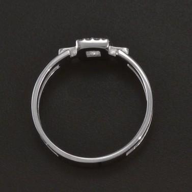 Prořezávaný prsten se zirkony bílé zlato 3529 č.3
