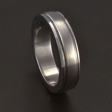 Ocelový hladký prsten s linkou 3683 č.1