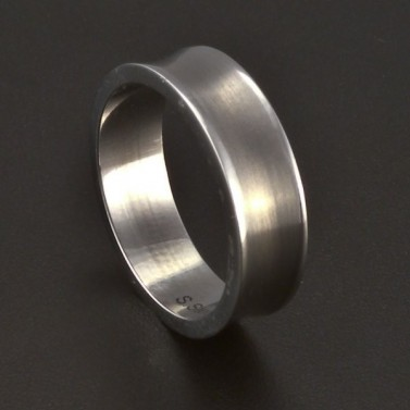 Ocelový hladký prsten 3685 č.1