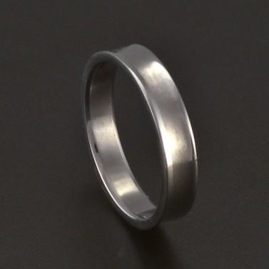 Jednoduchý lesklý prsten chirurgická ocel 3686 č.1