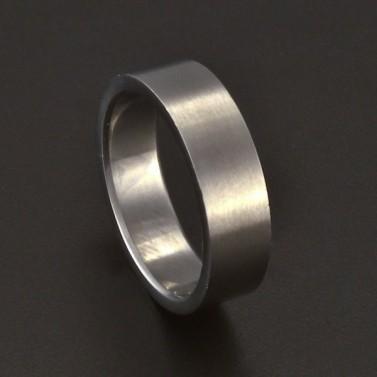 Jednoduchý hladký prsten chirurgická ocel 3687 č.1