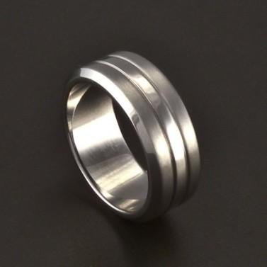 Ocelový prsten provedení lesk a mat 3699 č.1