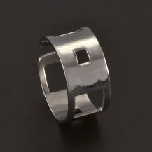 Prořezávaný prsten chirurgická ocel 3716