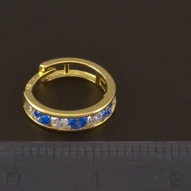 Dětské náušnice zlato modrý a bílý zirkon 3720 č.3