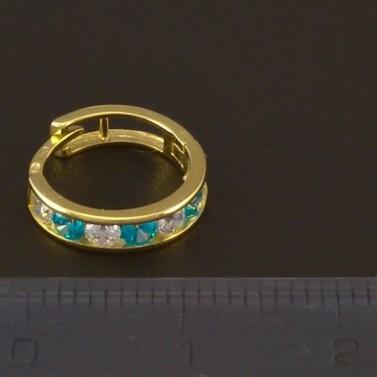 Dětské kroužky zlaté barevné zirkony 3721 č.3