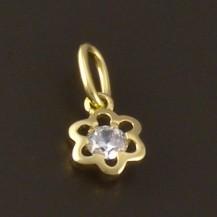 Zlatý přívěšek dětský květ 3747