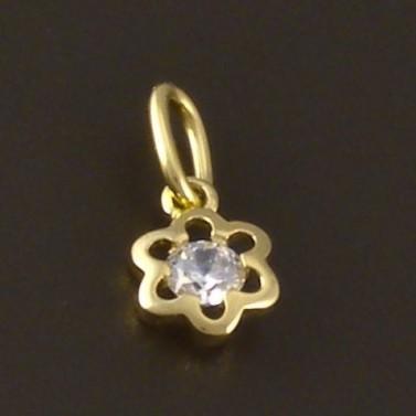 Zlatý přívěšek dětský květ 3747 č.1