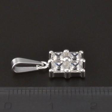 Přívěsek stříbro čtvercové zirkony 3770 č.2