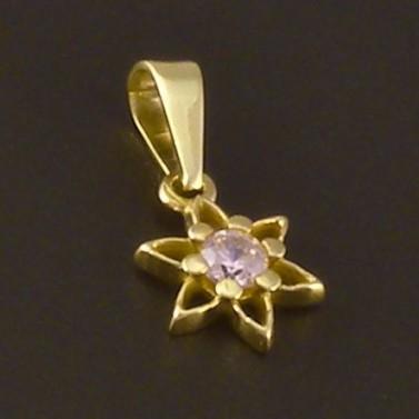 Zlatý přívěsek jemná kytička 3801 č.1