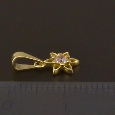 Zlatý přívěsek jemná kytička 3801 č.2
