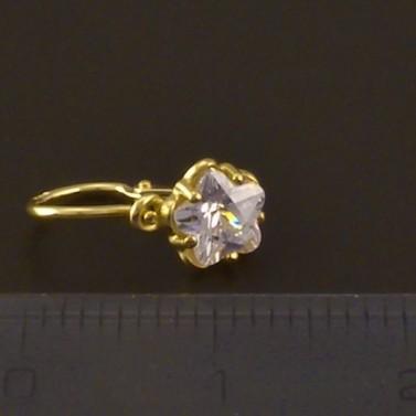 Zlaté dětské náušnice zirkon tvar květ 3813 č.3