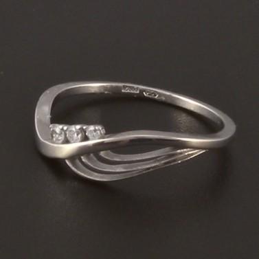 Moderní prstýnek z bílého zlata 3819 č.2