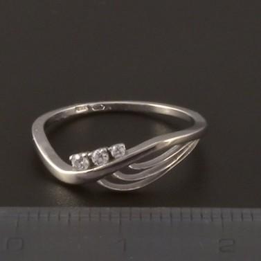 Moderní prstýnek z bílého zlata 3819 č.3